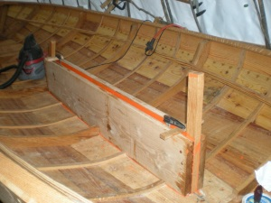 centerboard trunk logs installed