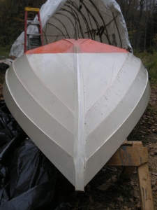 hull painted, cutwater formed